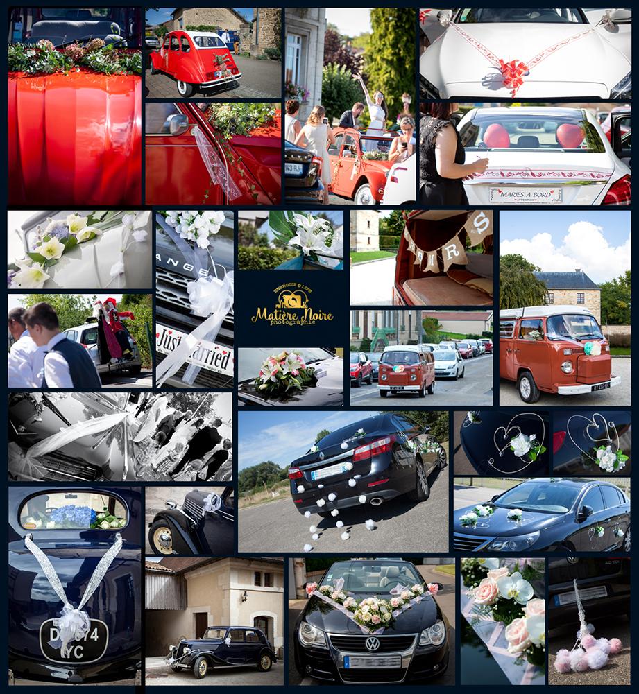 florilège d'idées décoration de voiture de mariage