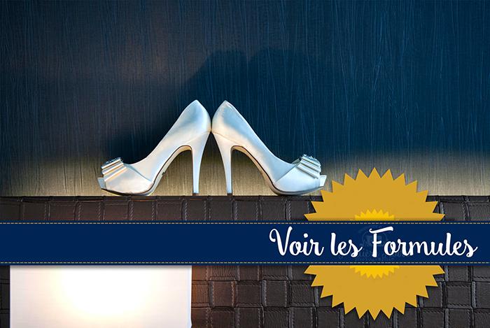 chaussures de mariées blanches peeptoe