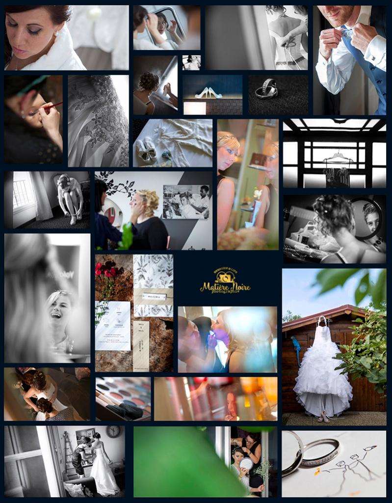 photos de préparatifs de mariage