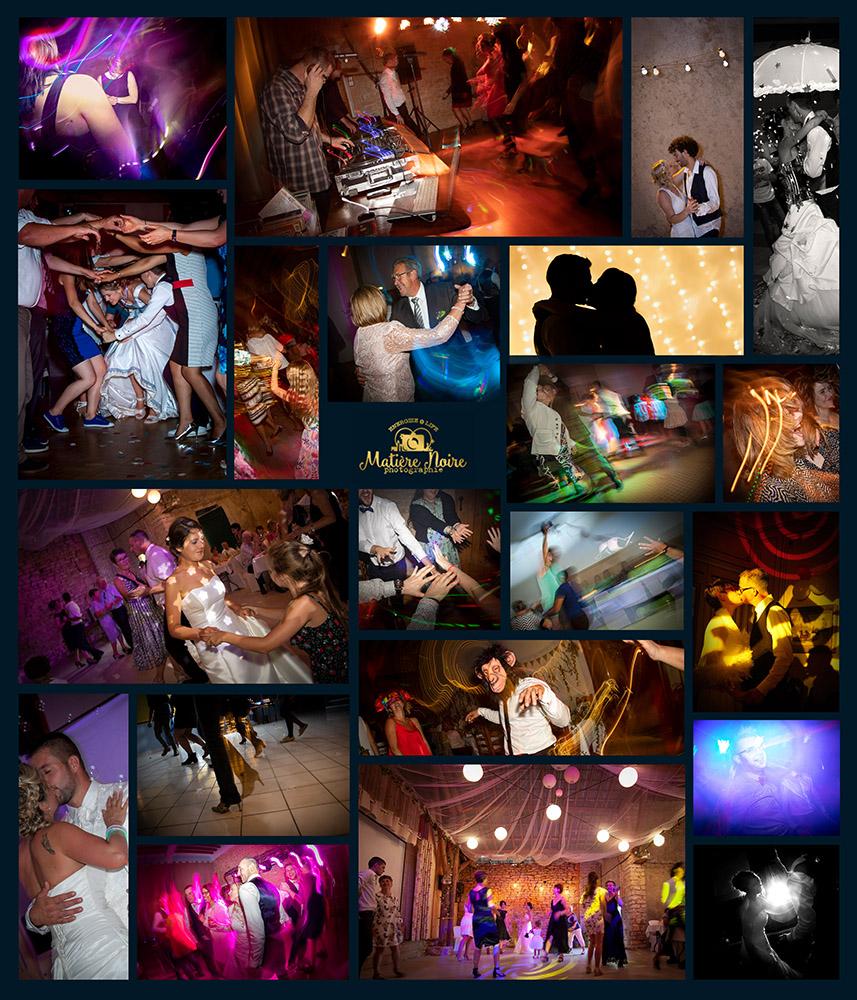 effets de lumière à des fêtes de mariages