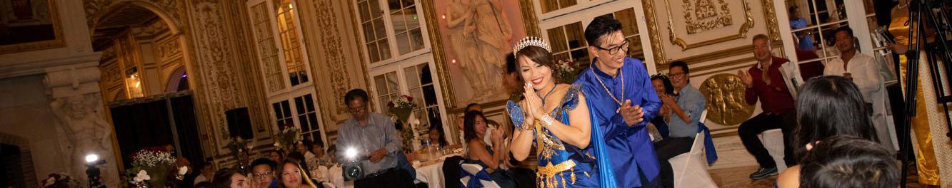 mariage asiatique dans un chateau